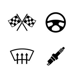 car parts simple related icons vector image vector image