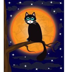 cat on a tree vector image