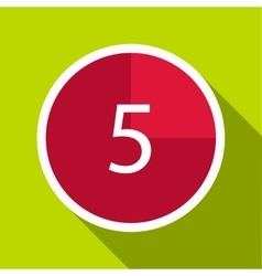 Countdown icon flat style vector