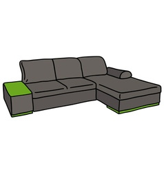 Dark couch vector image vector image