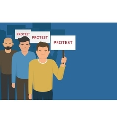 Demonstration and protest concept crowd of angry vector