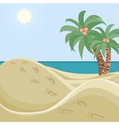 Deserted beach vector