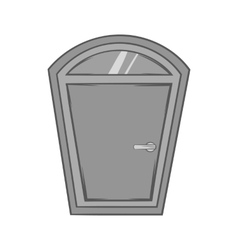 Door from house icon black monochrome style vector image vector image