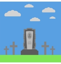 Grey gravestone vector