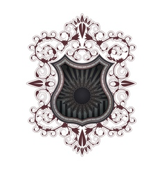 heraldic shield color vector image vector image