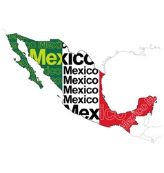 Map of mexico 1 vector