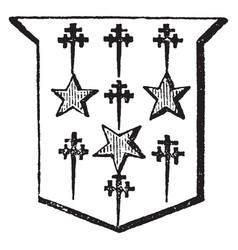 Mullets and cross crosslets are part of an vector