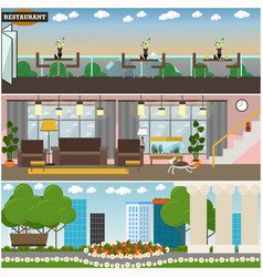 People and relations interior concept flat vector