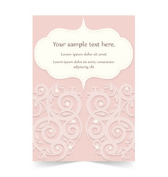 pink invitation card greeting card wedding card vector image