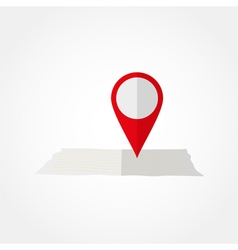 Pointer on the paper map vector