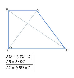 Problem of finding a diagonal trapezoid-01 vector