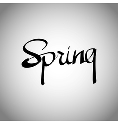 Spring hand lettering - handmade calligraphy vector image vector image
