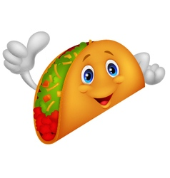 Taco cartoon giving thumb up vector image vector image