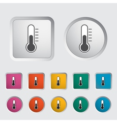 thermometer icon 2 vector image vector image