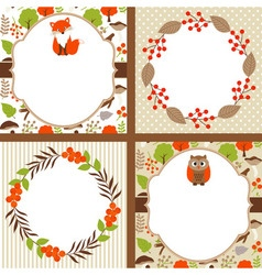 Woodland cards vector
