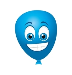 Balloons air character icon vector