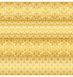 Seamless floral golden borders vector