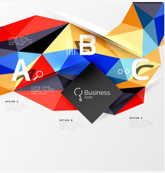 3d polygonal object triangles abstract background vector image