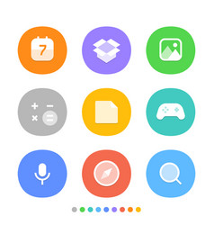 Modern smartphone icons set different color web vector