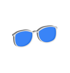 Blue glasses eyeglasses symbol flat isometric vector