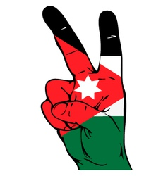Peace sign of the jordan flag vector