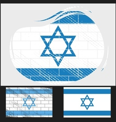 Scratched flag of israel vector