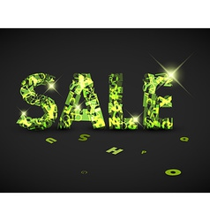 green sale label made from letters vector image