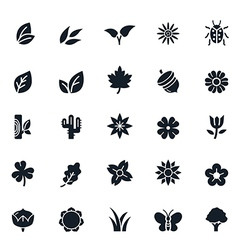 Natural Icons vector image