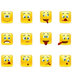 Set crazy emoticons vector