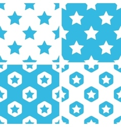 Star patterns set vector