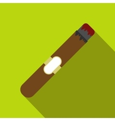 Cigar flat icon vector