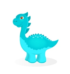 Cartoon dinosaur character vector