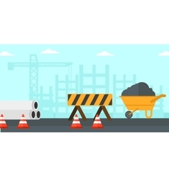 Background of construction site vector