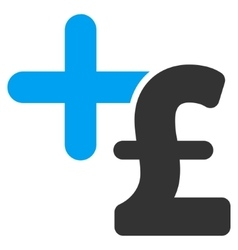 Medicine pound price flat icon symbol vector