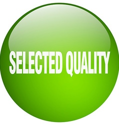 Selected quality green round gel isolated push vector