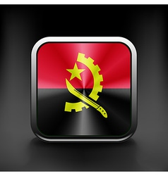 Angola flag national travel icon country symbol vector image vector image