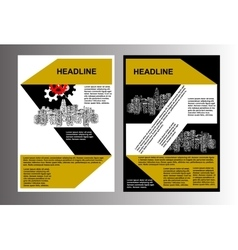 brochure template cityscape vector image