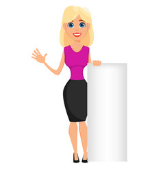 business woman cartoon character cute blonde vector image vector image
