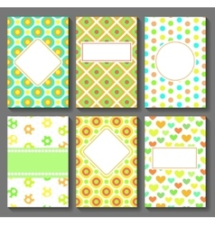 Cards Templates vector image