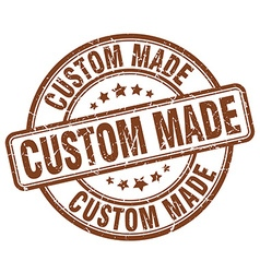 Custom made brown grunge round vintage rubber vector