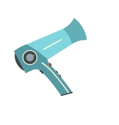 Hairdryer flat icon vector image vector image