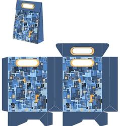 Handbags packages pop art pattern vector image vector image