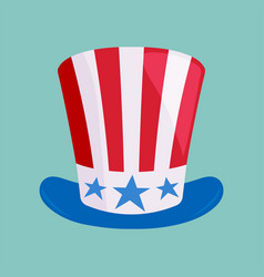 hat in american flag color vector image