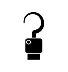 hook icon image vector image