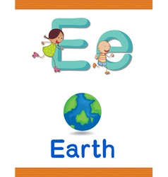 Learning Alphabet E vector image