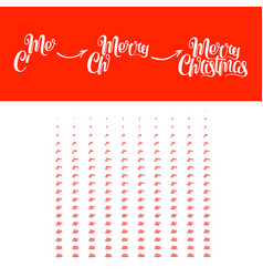 merry christmas animation vector image vector image