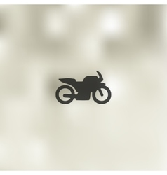 Motorcycle icon on blurred background vector