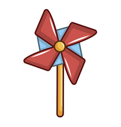 pinwheel toy icon cartoon style vector image
