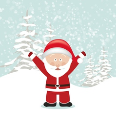 Santa Claus with Hands Up vector image