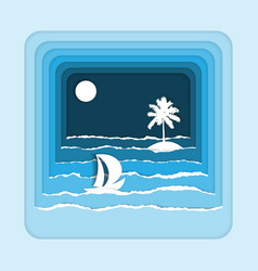 sea paper art vector image